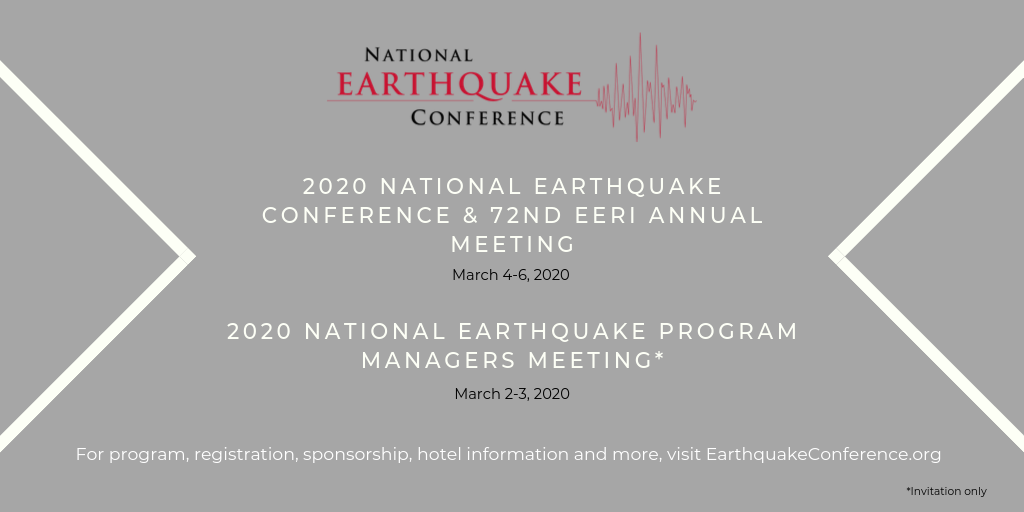 2020 National Earthquake Conference Registration Underway…
